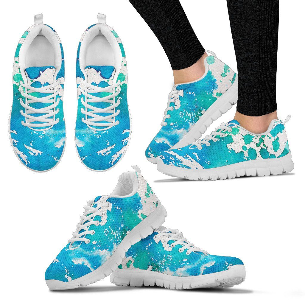 Watercolor Splatter Women's Sneakers