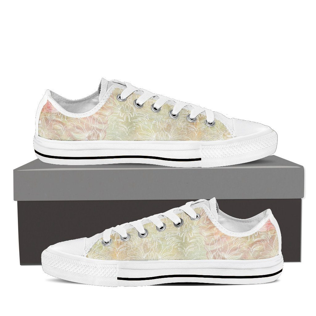 Pastel Abstract Womens' Low Top Canvas Shoe