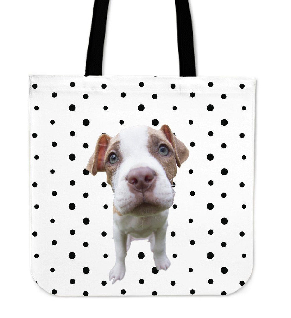 Puppy Polka Dot Print Tote Bag