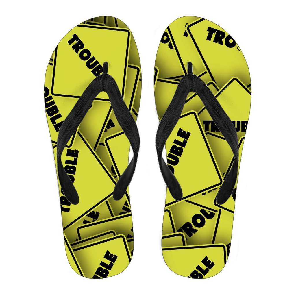 Trouble Warning Men's Flip Flops