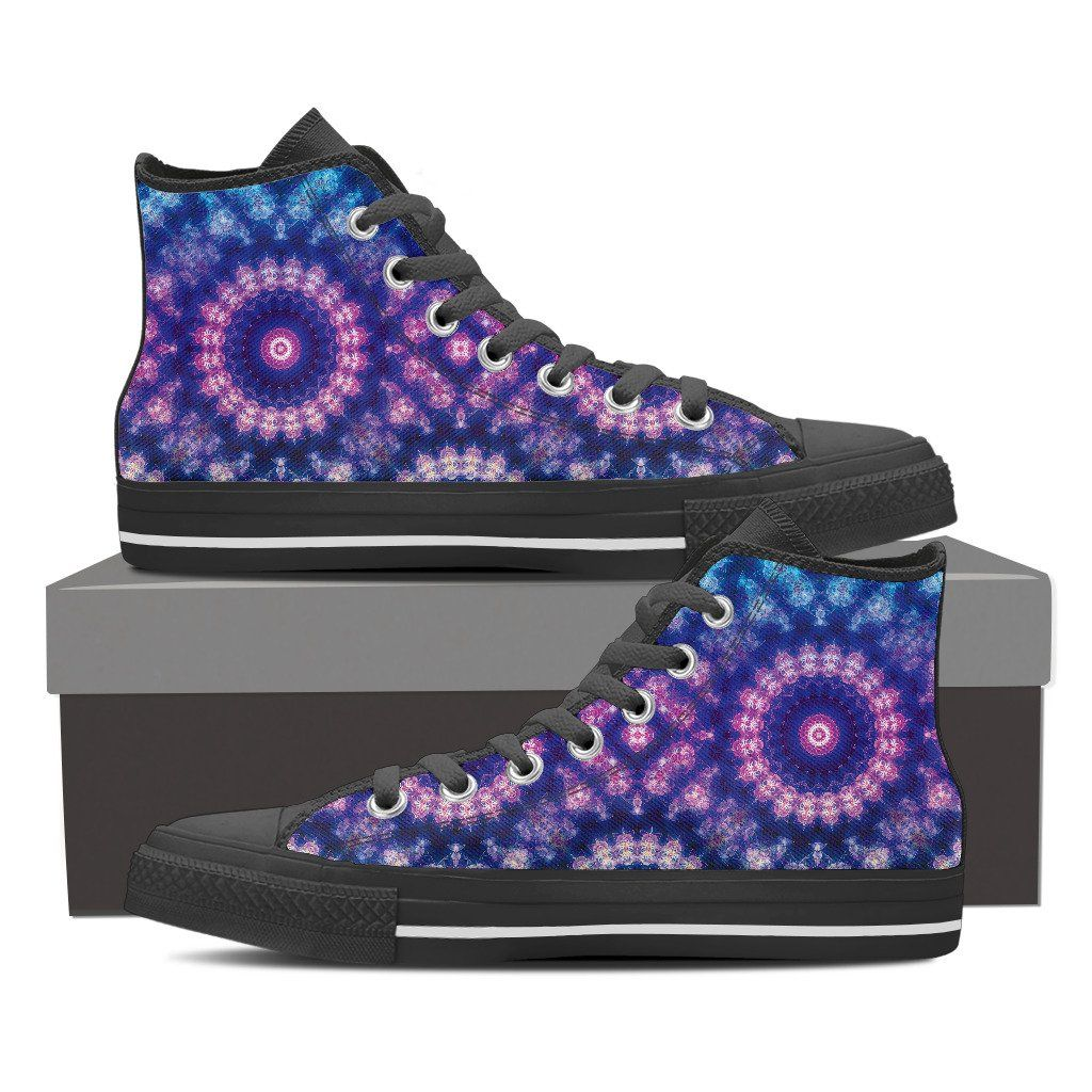 Mandala Women's High Top Canvas Shoe