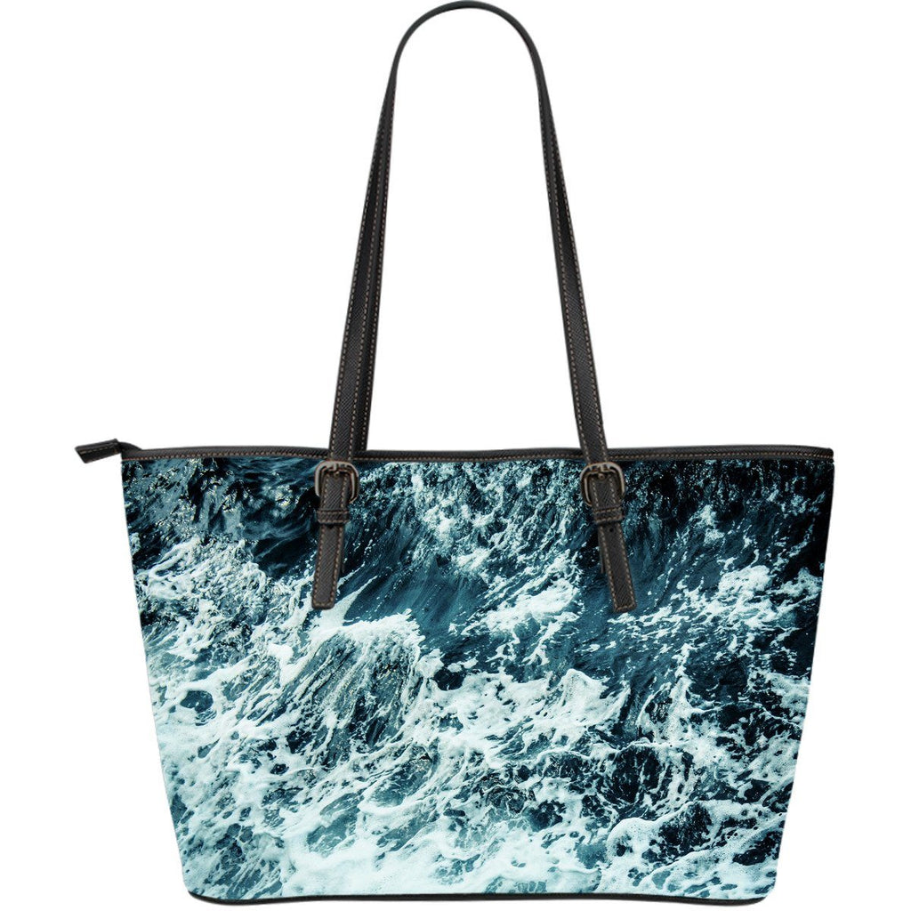 Wave Foam Large Leather Tote