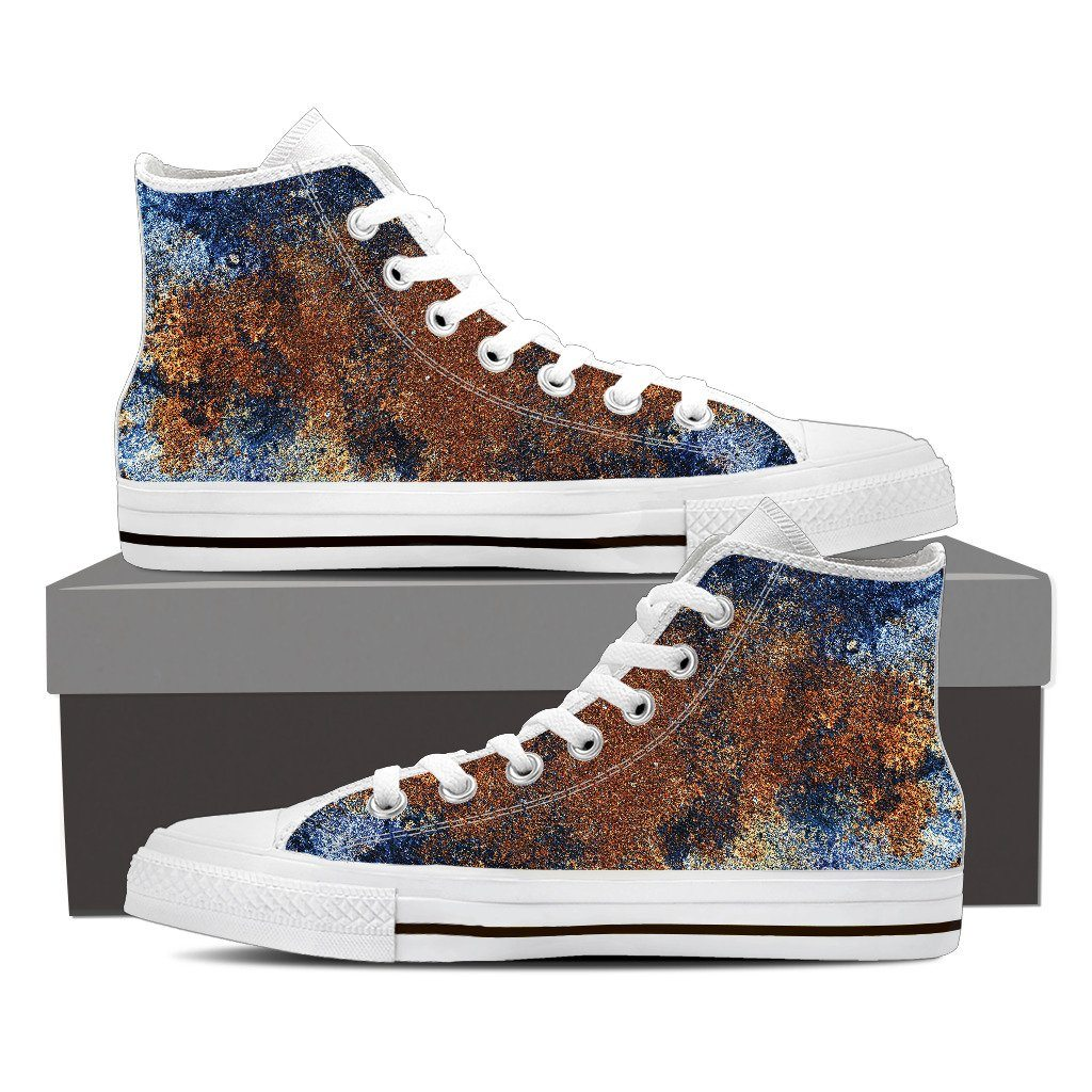 Rust Men's High Top Canvas Shoe