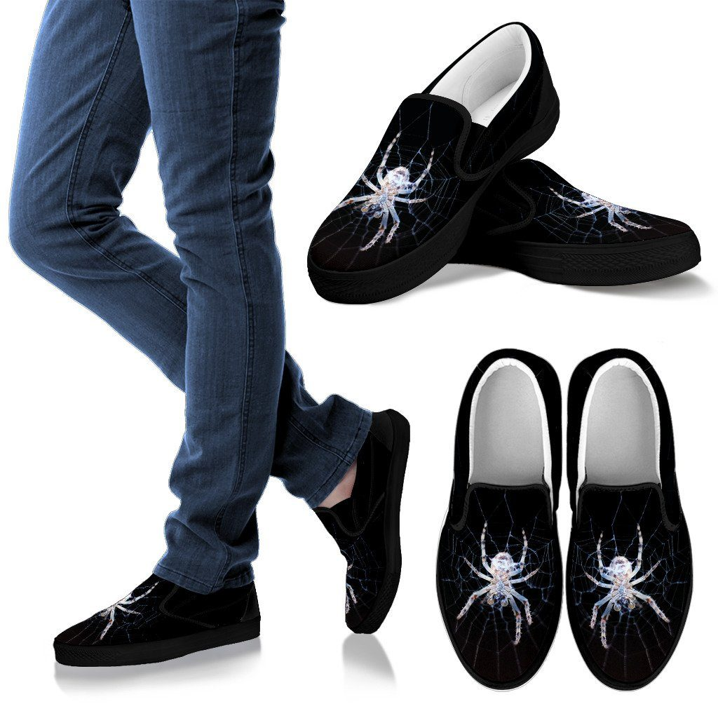 Spider Print Men's Slip On Shoe