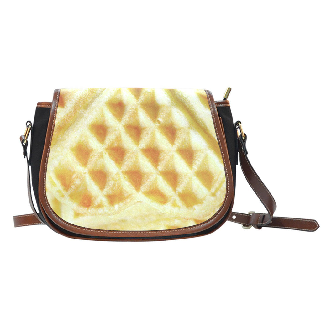 Waffle Canvas/Leather Saddle Bag