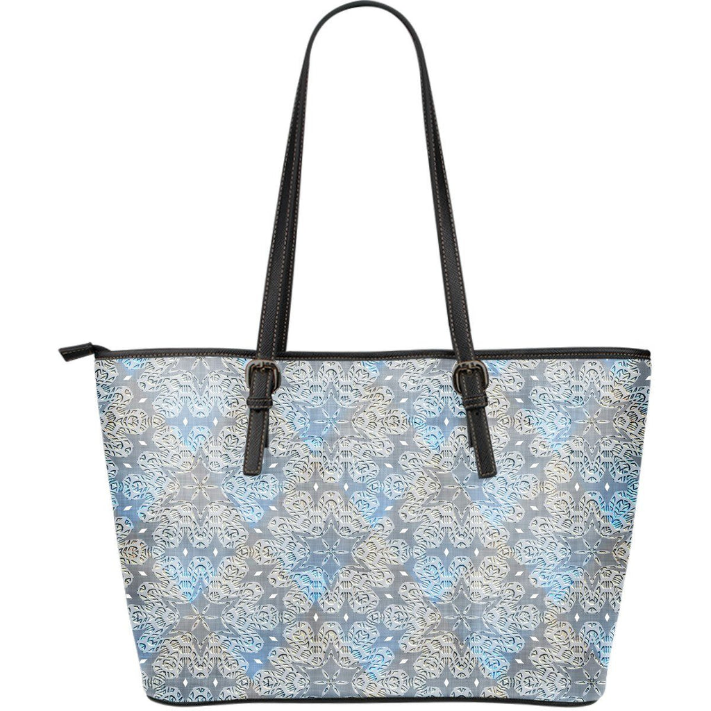 Snowy Lace Large Leather Tote