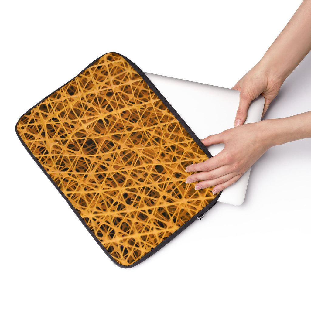 Yellow mesh Laptop Sleeve