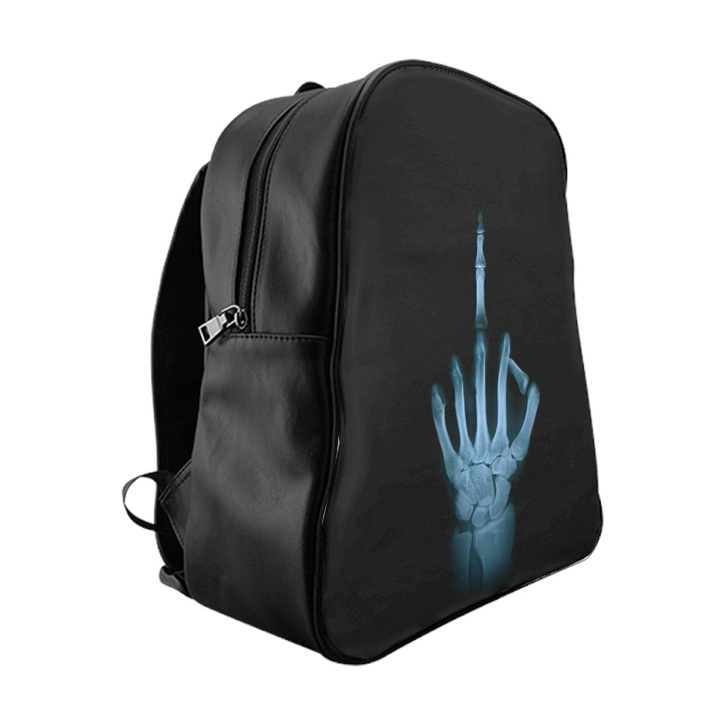 Middle Finger X-Ray School Backpack
