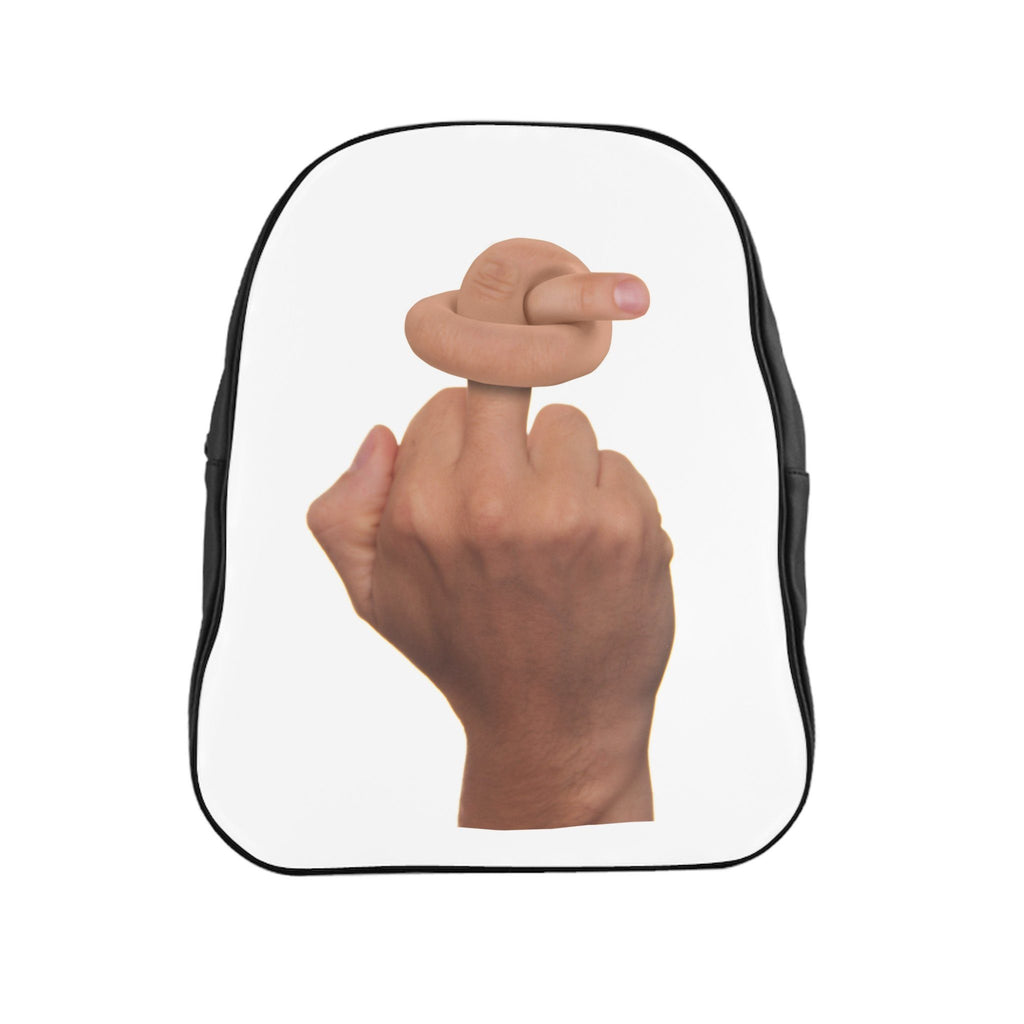 Twisted Middle Finger School Backpack