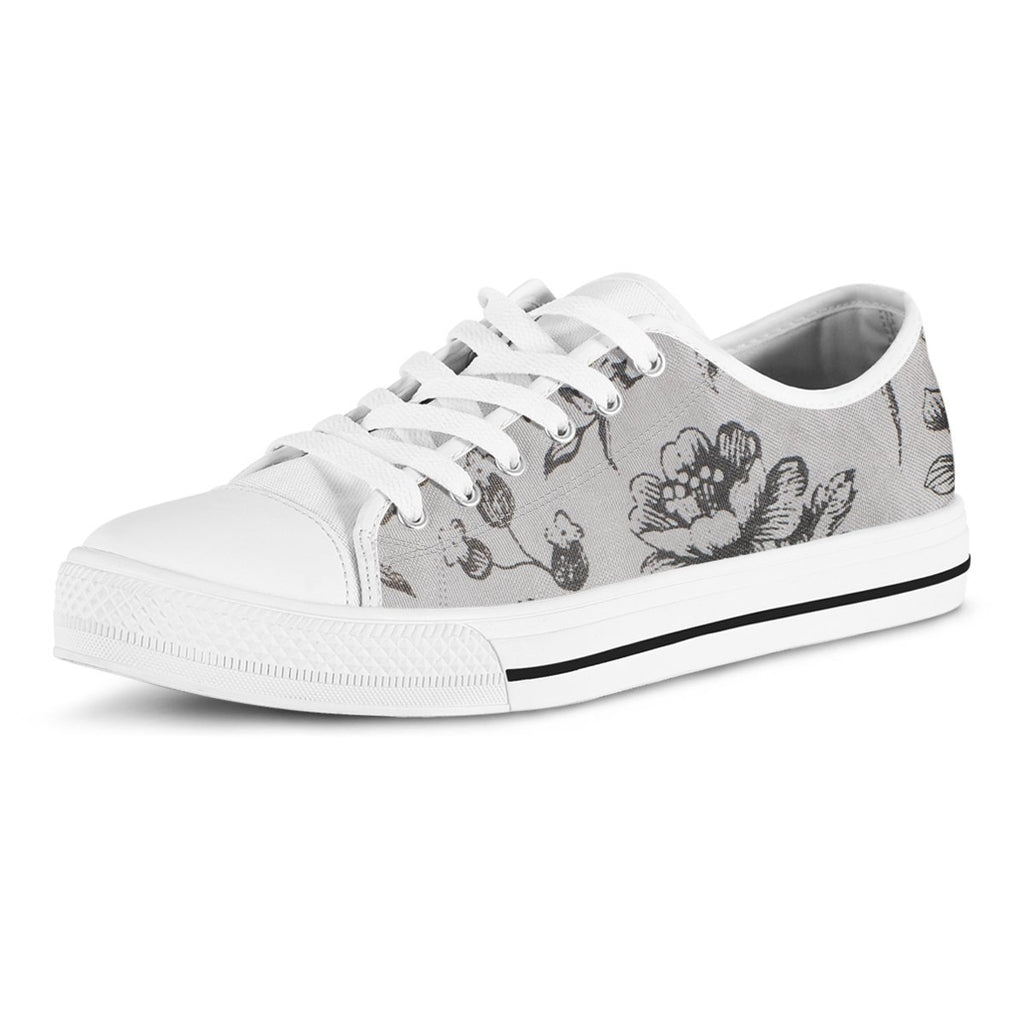Simple Florals Women's Low Top Canvas Shoe