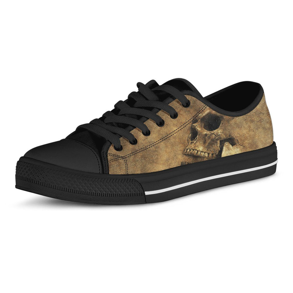 Skull Men's Low Top Canvas Shoes