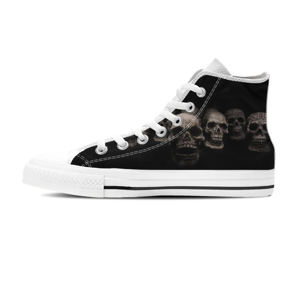 Skulls High Top Shoe