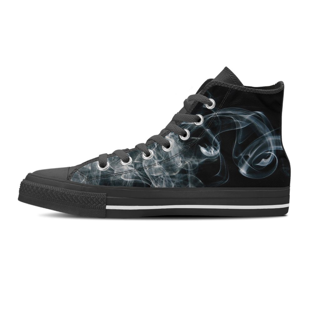 Smoke Print Men's High Top Canvas Shoe