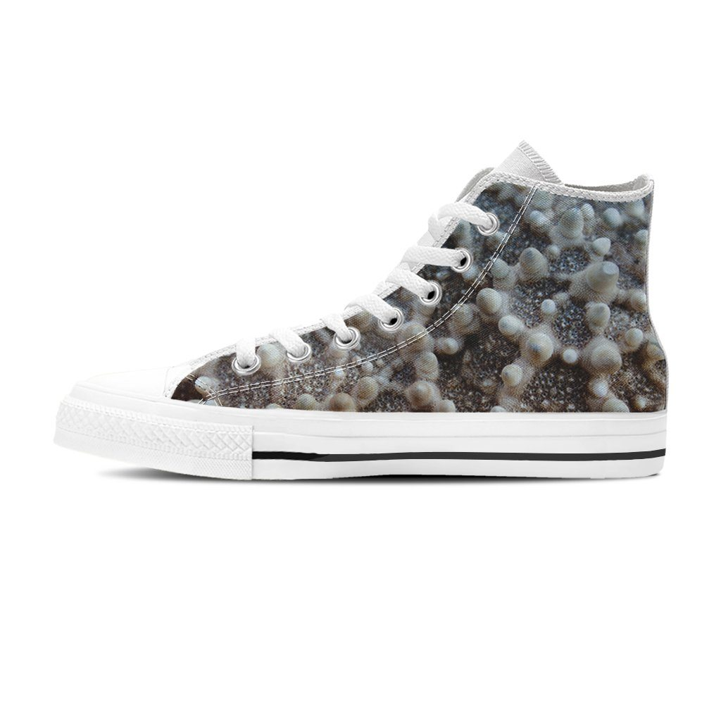 Starfish Print Women's High Top Canvas Shoe