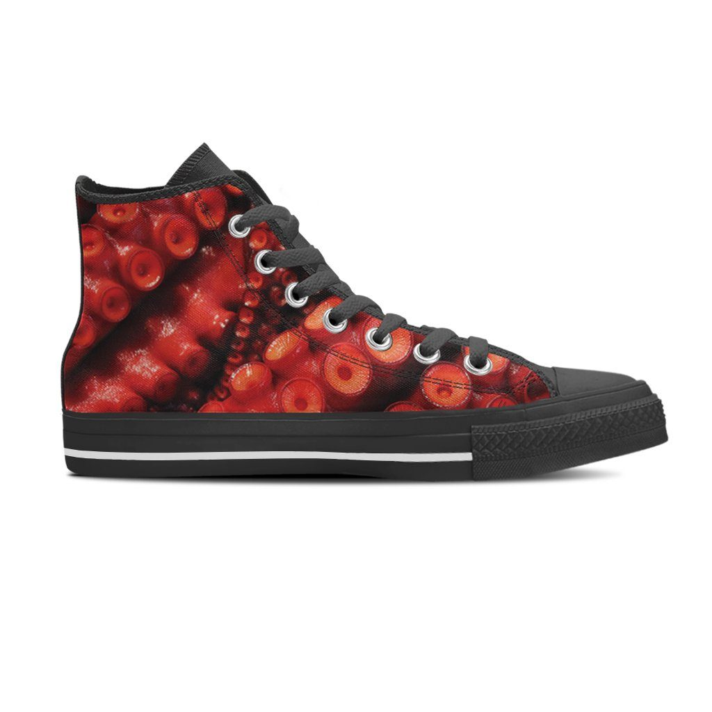 Tentacles Men's High Top Canvas Shoe