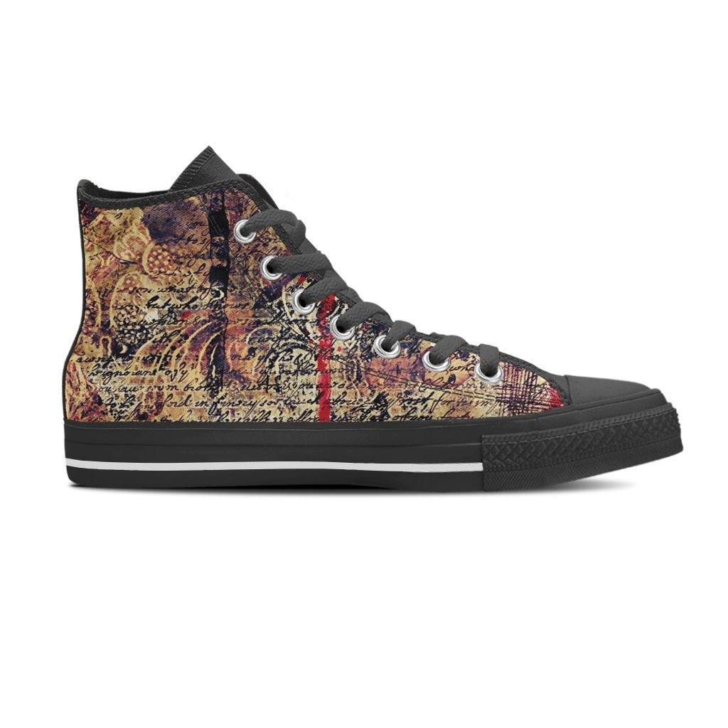 Vintage Blood Men's High Top Canvas Shoe