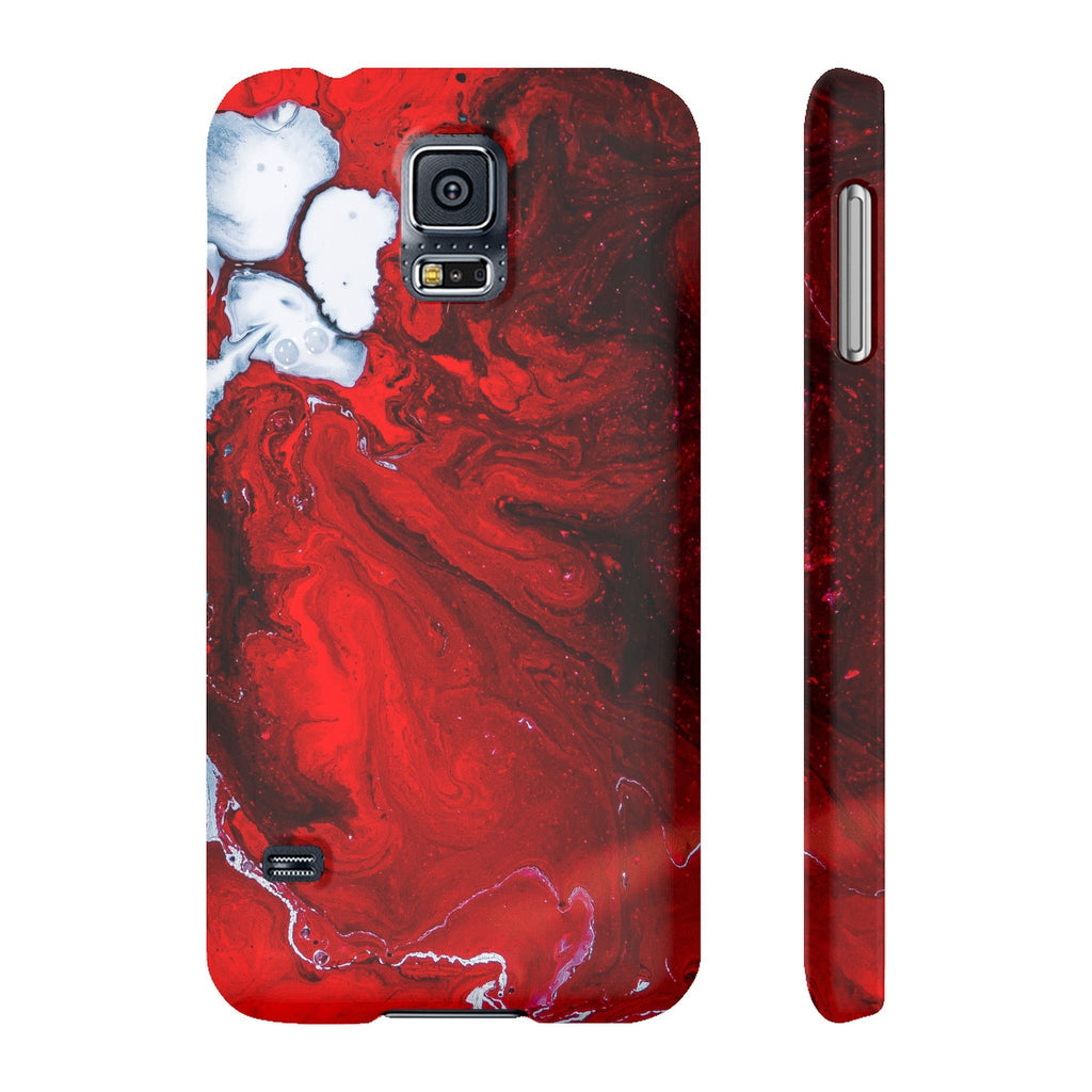 Red paint Phone Cases