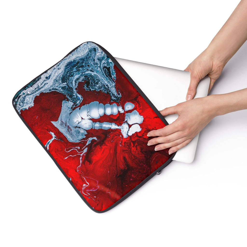 Red and blue paint Laptop Sleeve
