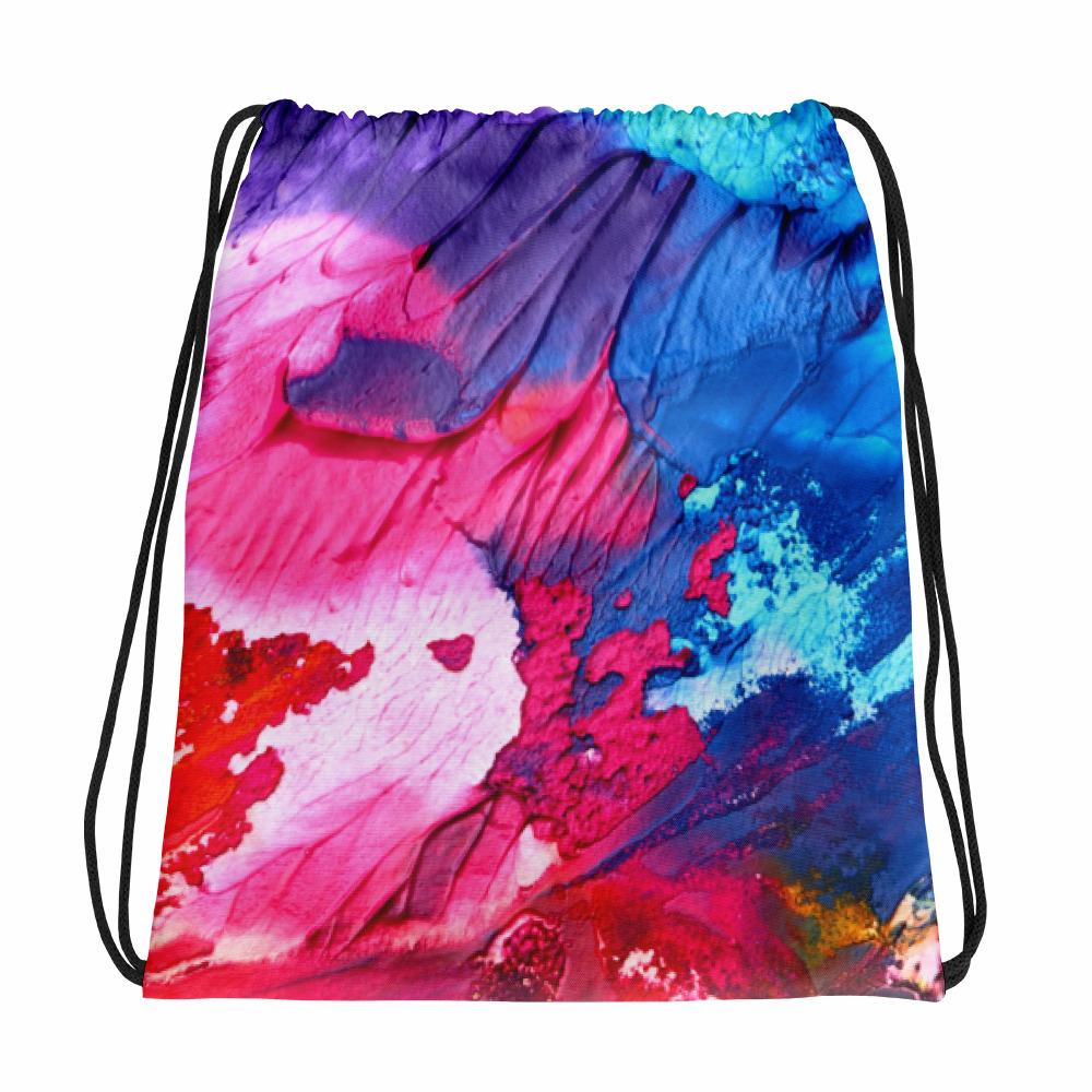Wet Paint Drawstring bag