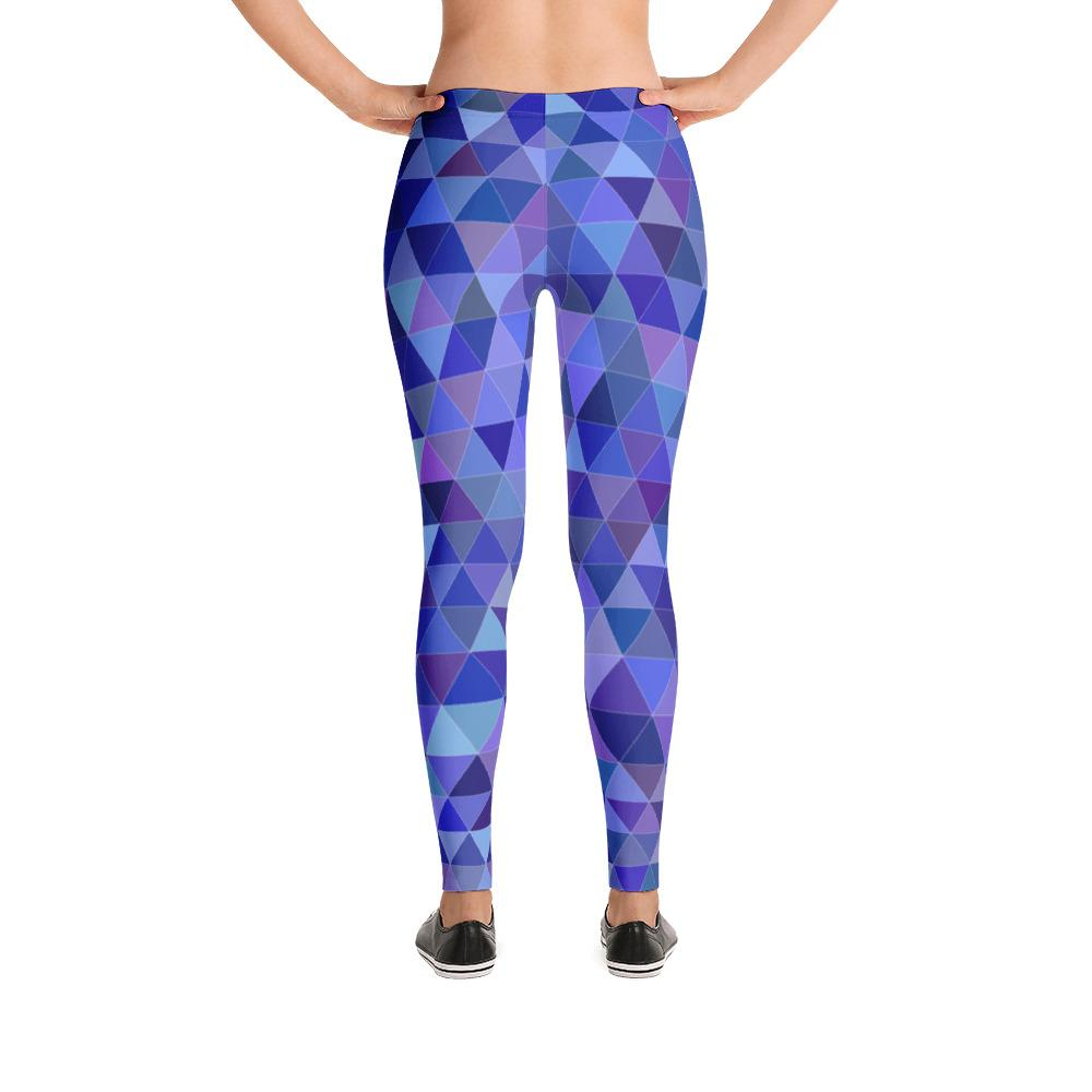 Purple Triangles Leggings