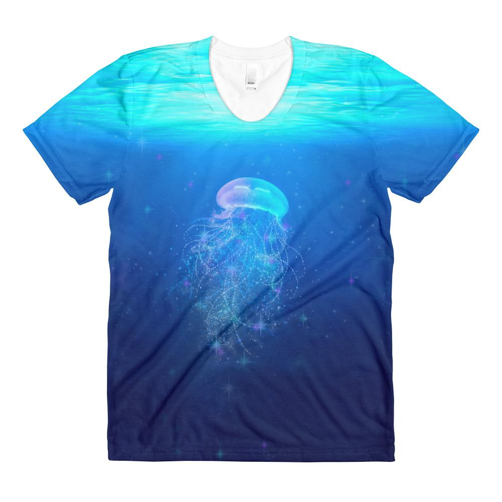 Underwater Sublimation women's crew neck t-shirt
