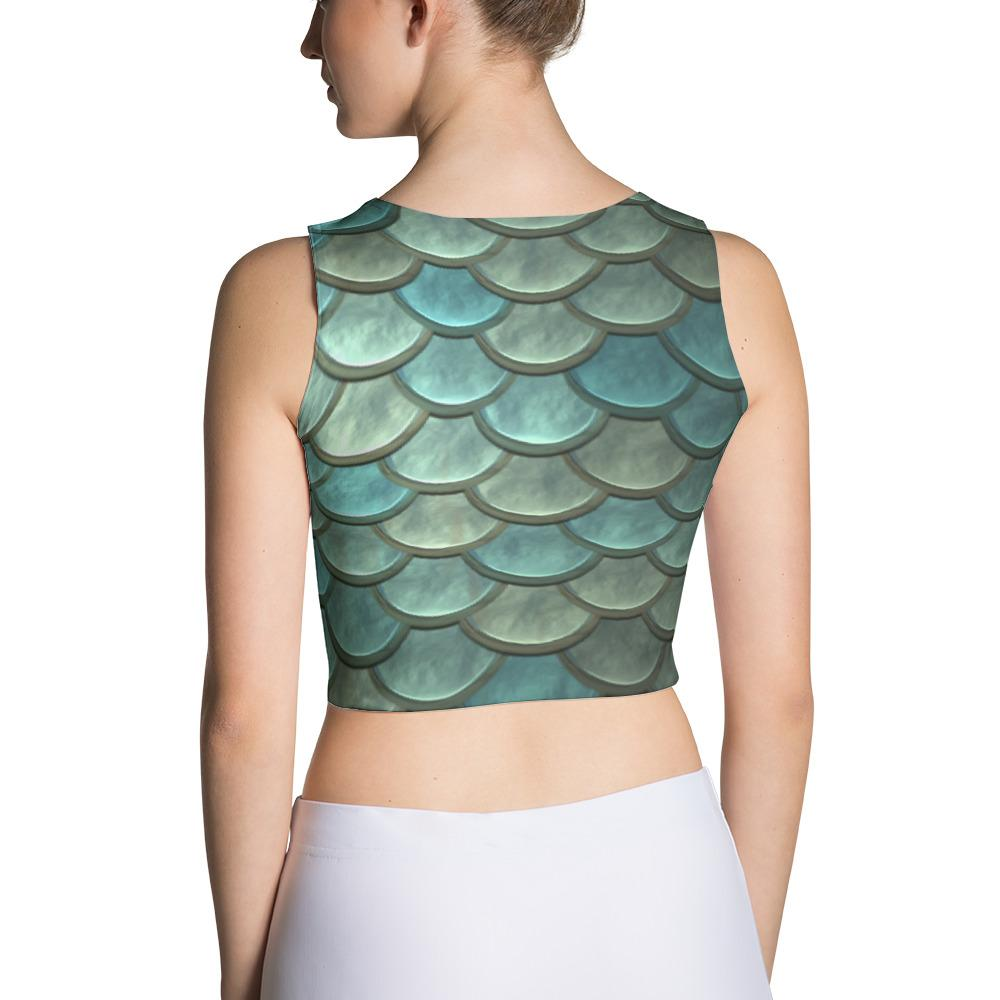 Mermaid Scales Sublimation Cut & Sew Crop Top