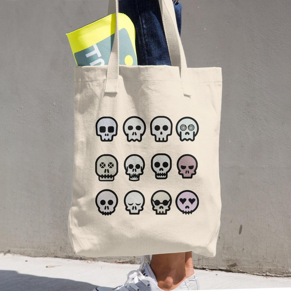 Skull Cotton Tote Bag