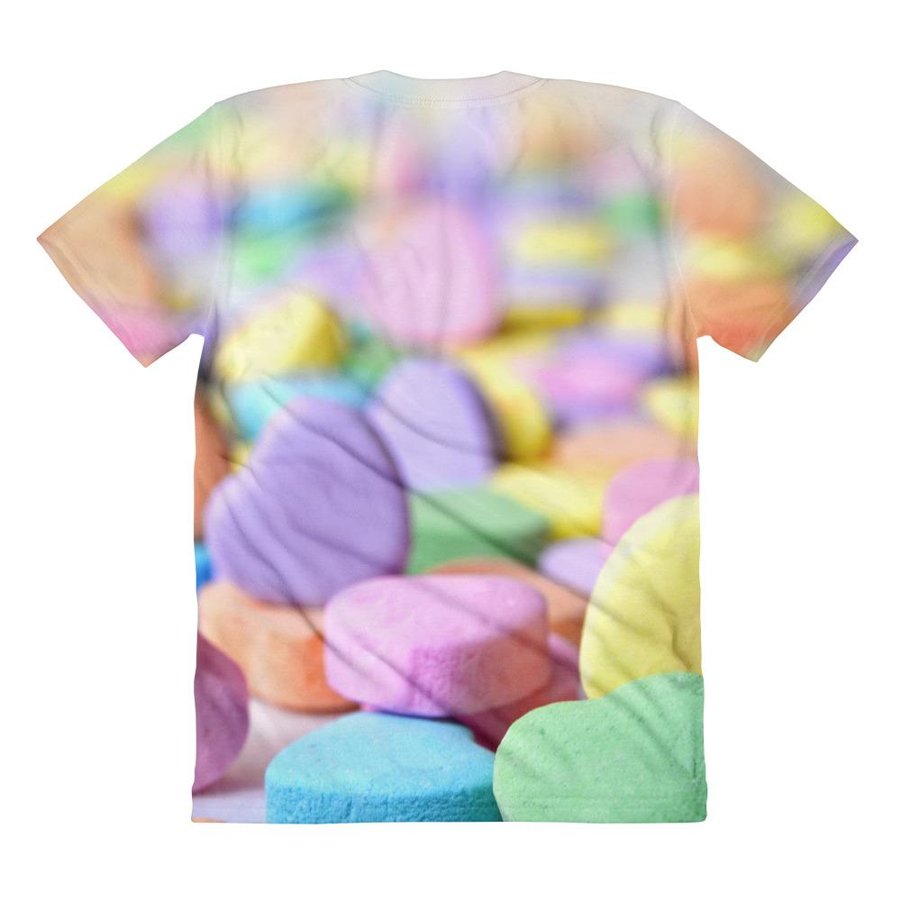 Sweet Candy Sublimation women's crew neck t-shirt