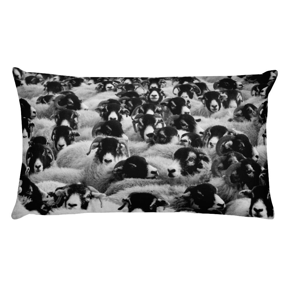 ZZZ Sheep Rectangular Pillow