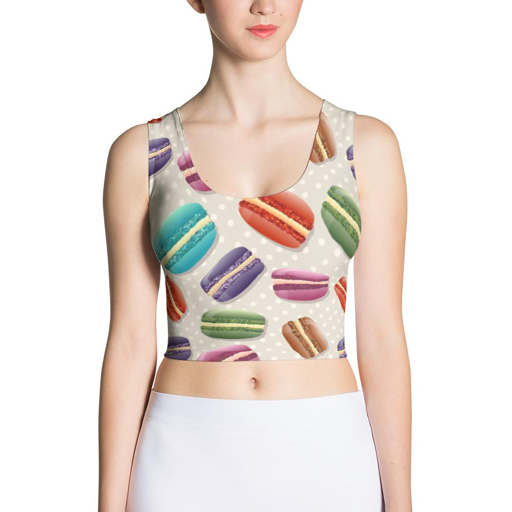 Macaroons Sublimation Cut & Sew Crop Top