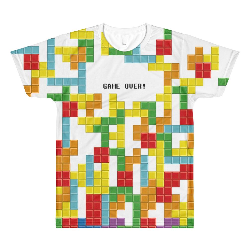0b7011f338a452 Tetris Sublimation men s crew neck t-shirt