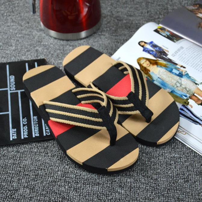 Men's Summer Stripe Flip Flops