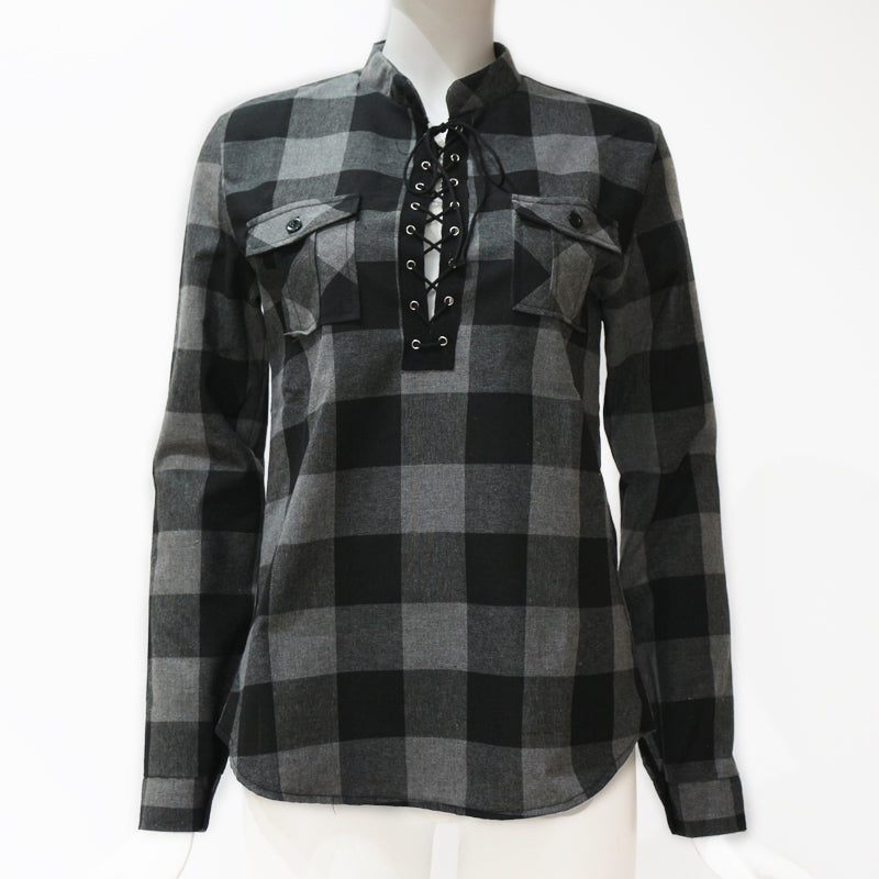 Plaid Shirts Long Sleeve Tunic