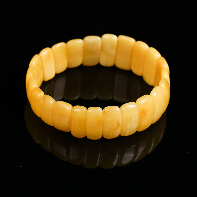 Unique 100% Natural Amber Beeswax Bracelet