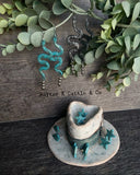 Turquoise Rattler Earrings