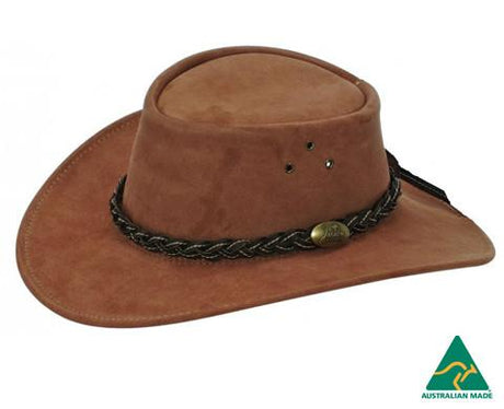 Jacaru Hat Wallaroo Suede – Mortels Sheepskin Factory Pty Ltd 0114538a83af