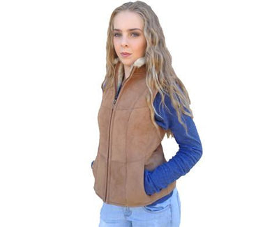 Ladies Sheepskin Vest