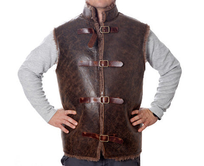 Mens Distressed Choc Diggers vest