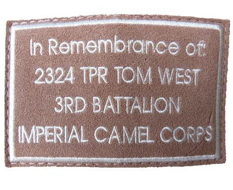 Customised Remembrance Patch