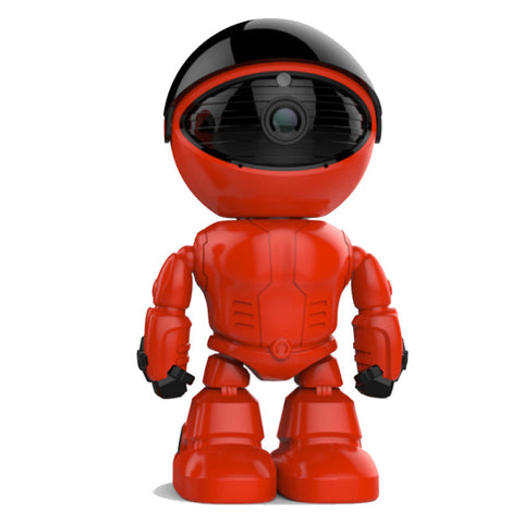 Red Robot style PTZ control 960P ip network baby surveillance intelligent security Robot camera