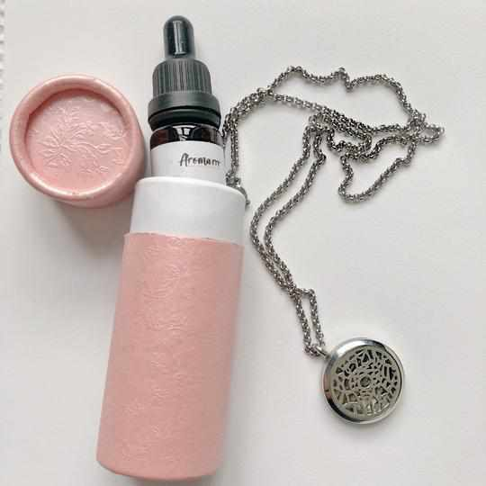 NZ Aromatherapy 316L Student Essential Oil Necklace and Citrus Crisp Essential Oil | Aromarrr NZ