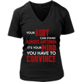 Load image into Gallery viewer, Spartan Mart:T-shirt,Your Body Can Stand Almost Anything (Dark) Women's Apparel