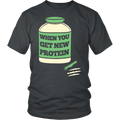 Load image into Gallery viewer, Spartan Mart:T-shirt,When I Get New Protein Mens Apparel
