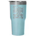 Load image into Gallery viewer, Spartan Mart:Tumblers,Coffee Before Lifty 30oz Insulated Tumbler