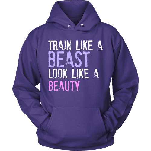 Spartan Mart:T-shirt,Train Like a Beast Look Like a Beauty Apparel