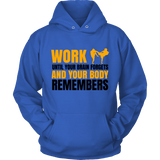 Spartan Mart:T-shirt,Work Until Your Brain Forgets And Your Body Remembers (Light) Mixed Apparel