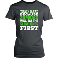 Load image into Gallery viewer, Spartan Mart:T-shirt,Train Hard Because Zombies Will Eat The Slow Ones First Women's Apparel