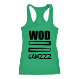 Spartan Mart:T-shirt,WOD Equals Gainzzz - Men's Tank top