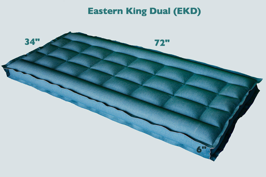 "Easter King Dual REM Air Systems Air Chamber Replacement Compatible with Select Comfort Sleep Number Dual Hoses (Cotton, 72"" L x 34"" W x 6"" H) …"