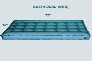 "Queen Dual Chambers REM Air Systems Air Chamber Replacement Compatible with Select Comfort Sleep Number Dual Hoses (Cotton, 72"" L x 26"" W x 6"" H) …"